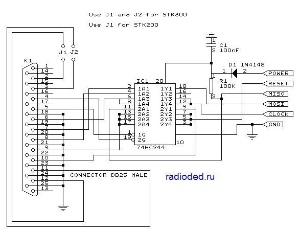 Программатор AVR STK200