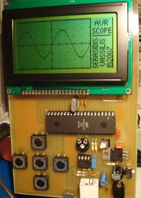Портативный осциллограф на микроконтроллере ATmega32