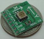 акселерометр ADXL202, запаян на плату