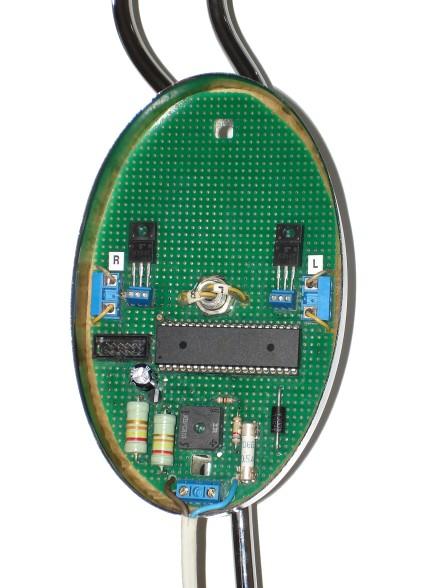 Рис. 7. Вид со стороны деталей. Двухканальный регулятор яркости на микроконтроллере.