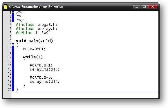 код на Си для AVR