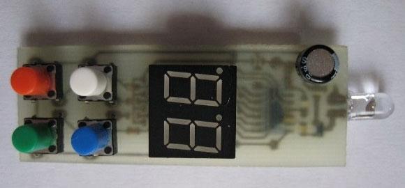 печатная плата многоканального передатчика, вид сверху
