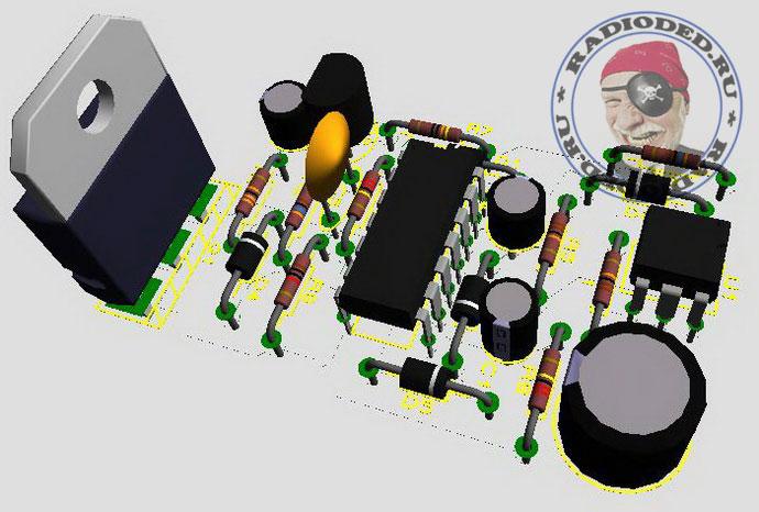 3D-модель печатной платы