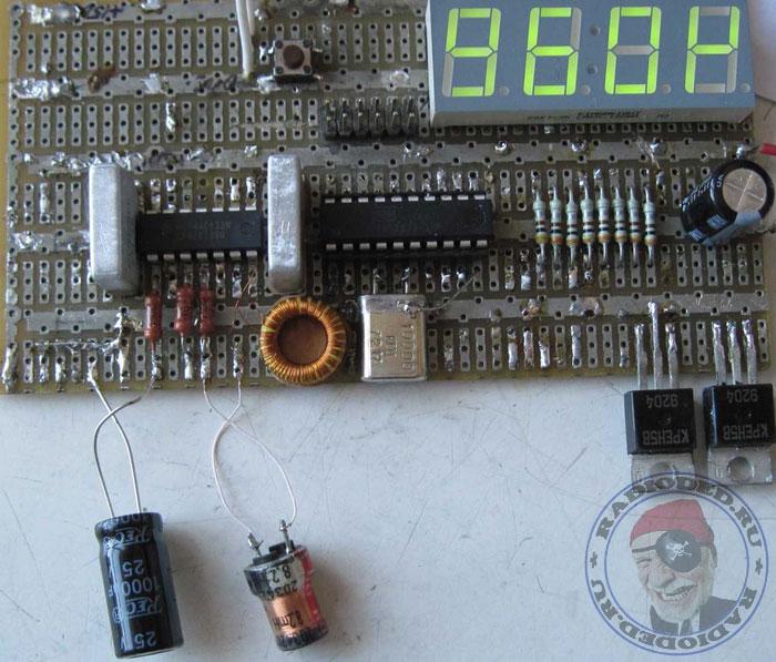 Измерение ёмкости электролитического конденсатора