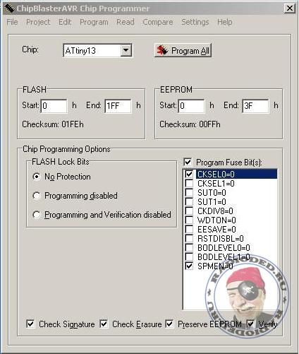 fuse-биты в ChipBlaster AVR