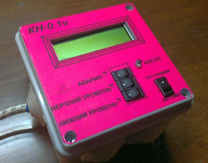 Собранный контроллер управления насосом