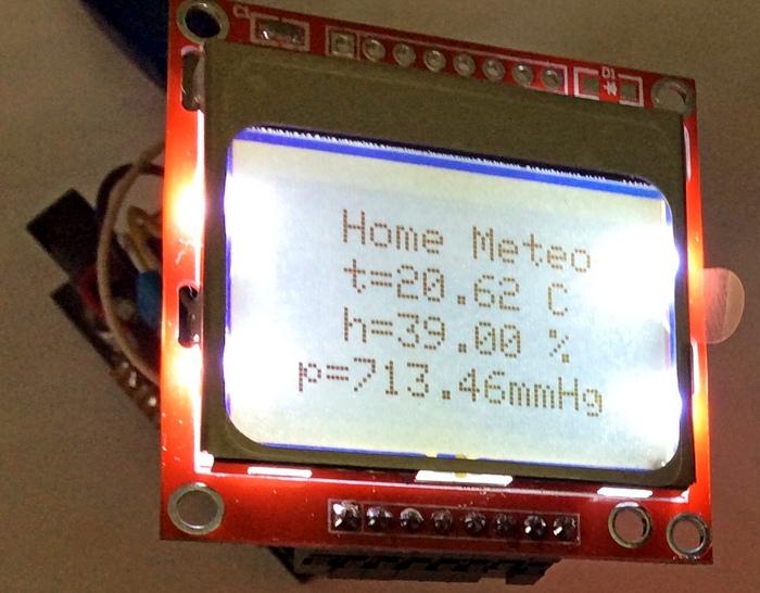 Вывод данных с Arduino на дисплей Nokia 5110