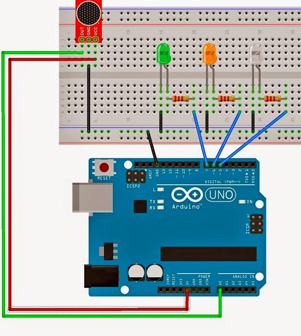 Схема подключения микрофона к Arduino для распознавания голоса